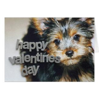 Yorkshire Terrier Valentine Greeting Card-jjhelene Card