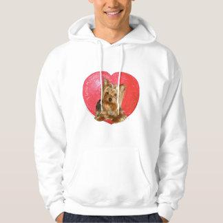 Yorkshire Terrier Valentine's Day Hoodie