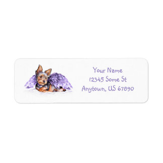 Yorkshire Terrier Yorkie Angel Return Address Label