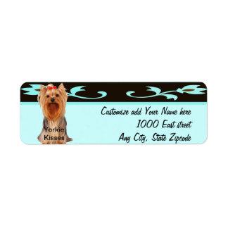 Yorkshire Terrier - Yorkie Kisses Return Address Label