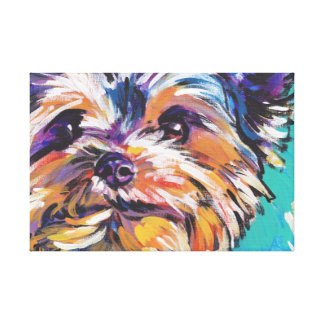 Yorkshire Terrier Yorkie Pop Art Canvas Print