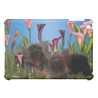 Yorkshire Terriers Blue  iPad Mini Cases