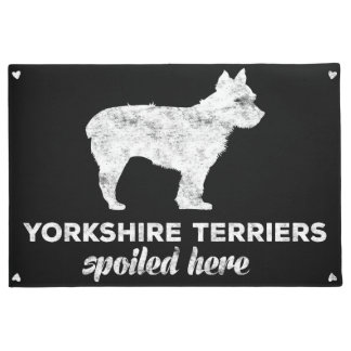 Yorkshire Terriers Spoiled Here Doormat