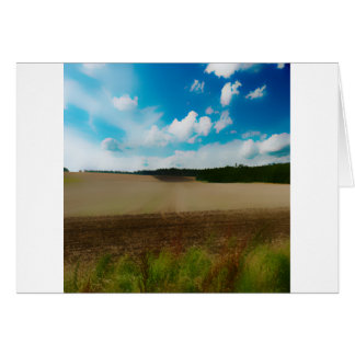 Yorkshire, with a artistic blur greeting card