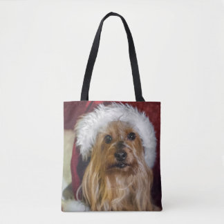 Yorkshire (yorkie) / Silky Terrier Christmas Tote