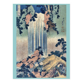 Yoro waterfall Mino Province by Katsushika,Hokusai Postcard