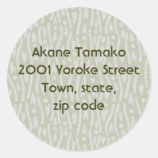 yoroke stripes round sticker