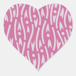 yoroke stripes heart sticker