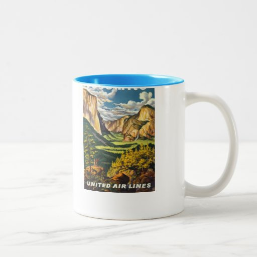 Yosemite American Vintage Travel Posters Coffee Mugs