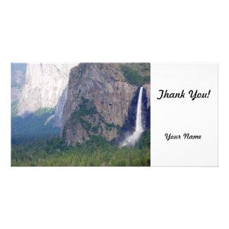 Yosemite Bridal Veil Fall Personalised Photo Card
