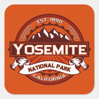 Yosemite Crimson Square Stickers