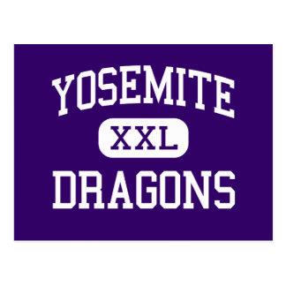 Yosemite - Dragons - Continued - Merced California Postcard