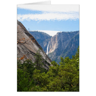 Yosemite Falls and Glacier Point (Custom Message) Card