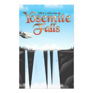 Yosemite Falls California travel poster Stationery