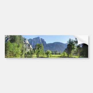 Yosemite Falls from Merced River - Yosemite Valley Bumper Sticker