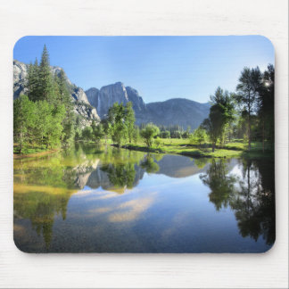 Yosemite Falls from Merced River - Yosemite Valley Mouse Pad