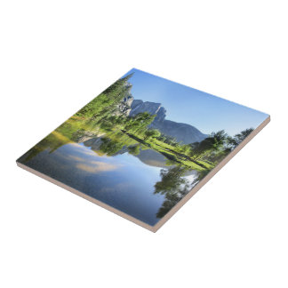 Yosemite Falls from Merced River - Yosemite Valley Tile