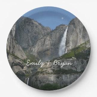 Yosemite Falls III from Yosemite National Park 9 Inch Paper Plate