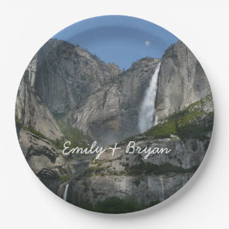 Yosemite Falls III from Yosemite National Park Paper Plate