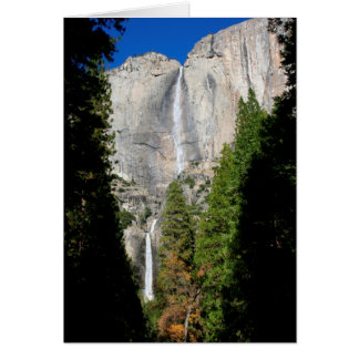 Yosemite Falls in November (Blank Inside) Card