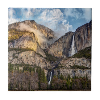 Yosemite Falls scenic, California Ceramic Tile