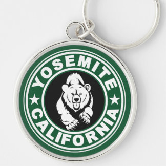 Yosemite Green Circle Key Ring