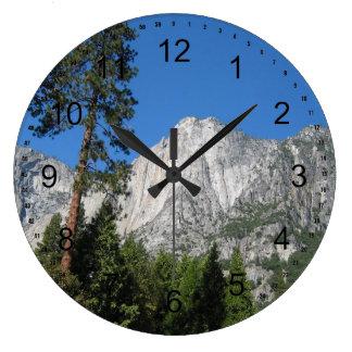 Yosemite in California Large Clock