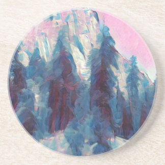 Yosemite in Pink Beverage Coaster
