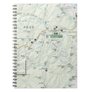 Yosemite map notebook