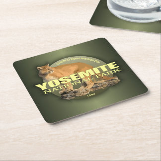Yosemite (Mountain Lion) WT Square Paper Coaster