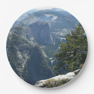 Yosemite Mountain View in Yosemite National Park Paper Plate