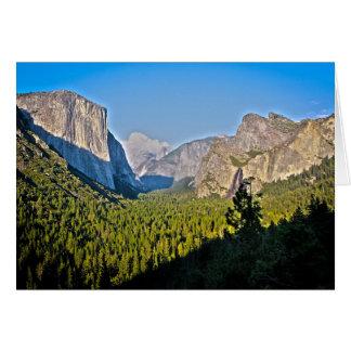 Yosemite Mountains Card