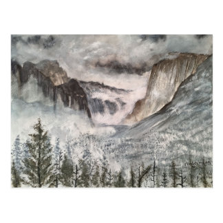 YOSEMITE MOUNTAINS POST CARD