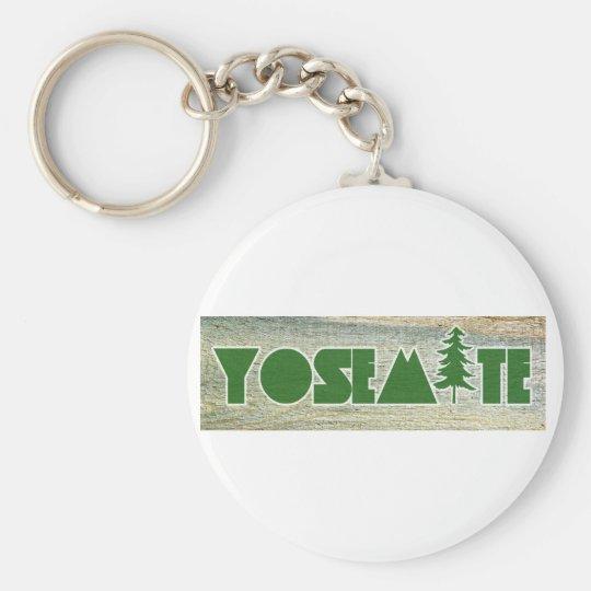 Yosemite National Park Basic Round Button Key Ring