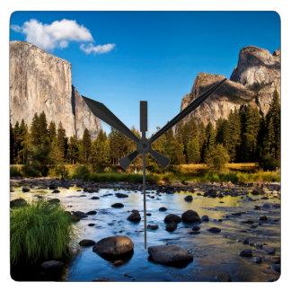 Yosemite National Park, California Square Wall Clock