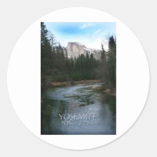 Yosemite National Park Half Dome Round Stickers