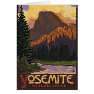 Yosemite National Park - Half Dome - Vintage Card