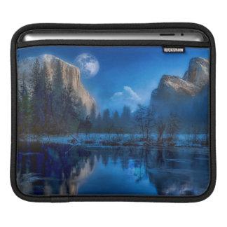 Yosemite national park moonlit night iPad sleeve