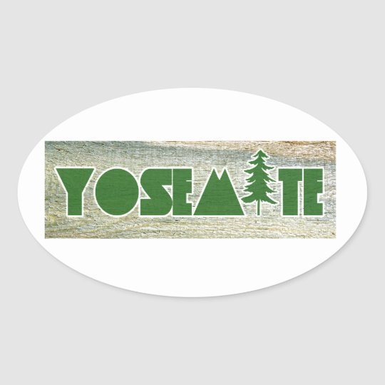 Yosemite National Park Oval Sticker