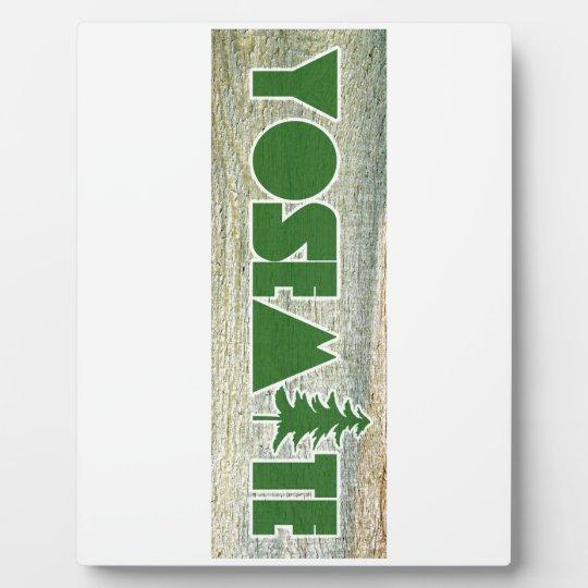 Yosemite National Park Plaque