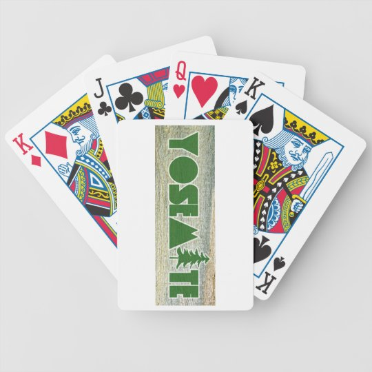 Yosemite National Park Poker Deck