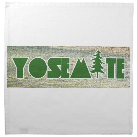 Yosemite National Park Printed Napkins