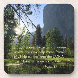 Yosemite National Park Psalm Coasters