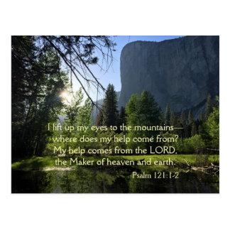 Yosemite National Park Psalm Postcard
