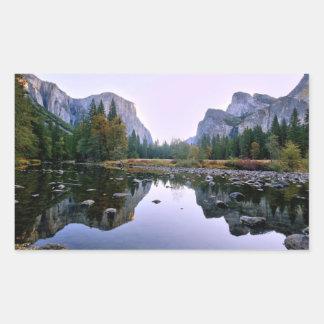 Yosemite National Park Rectangular Sticker