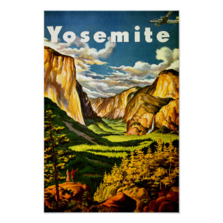 Yosemite National Park - Retro Tourism poster