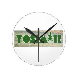 Yosemite National Park Round Clock