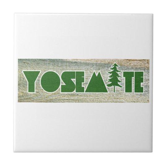 Yosemite National Park Small Square Tile