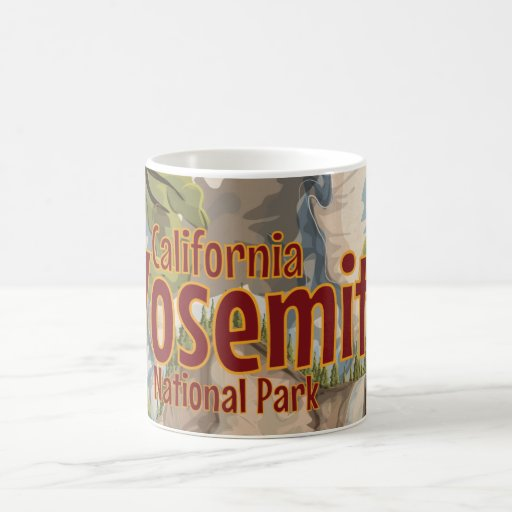 Yosemite National Park Travel Poster Mug