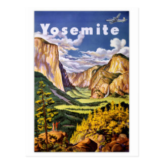 Yosemite National Park Vintage Poster Postcard